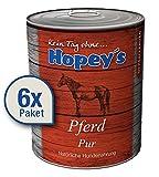 Hopey's Hypoallergenes Hundefutter: Pferdefleisch als einzige Proteinquelle, 100% Pferdefleisch für Hunde, 6X 850g Dosen
