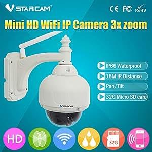 SUNNY-MARCHÉ VSTARCAM C7833WIP-X4 ONVIF extérieur PTZ Dome CCTV caméra de sécurité IP sans fil WiFi HD 720P Avec 4 zoom optique et de soutien 64G SD