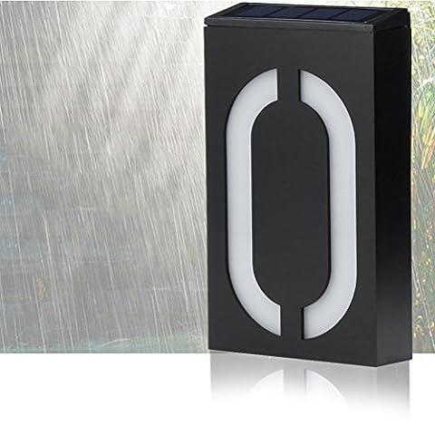 Igemy Solar Power LED Panneau lumineux Maison Hôtel Porte adresse Numéro de plaque plaque de chiffres a