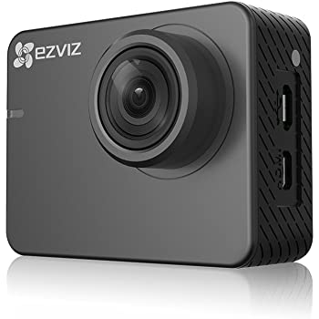 Ezviz S2 Lite FHD 1080P 60FPS Sport Action Camera – 8MP 150 ° 2 Inch Touch Screen, WiFi, Ble 4.0, WDR, Enhanced Running Mode 256 GB Support Low Light Mode, App and Remote Control, Grey