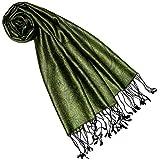Lorenzo Cana Luxus Seidenschal für Frauen Schal 100% Seide gewebt Damenschal elegant Paisley Muster grün Ton in Ton 7841277