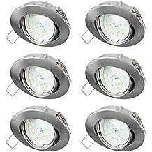 Sebson® 6X Foco empotrable Tipo 11, Incl. 5W Modulo LED 230V Ra>