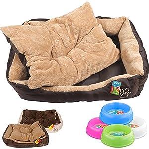 Schaffen Sie Ihrem Liebling ein wohlfühlendes Plätzchen mit diesem tollen Katzen-/Hundebett.    Durch den flauschigen Stoff gewöhnt sich das Tier in Sekundenschnelle an den neuen Platz.    Gönnen Sie Ihrem Tier einen neuen Schlafplatz, Ihr Hund o...