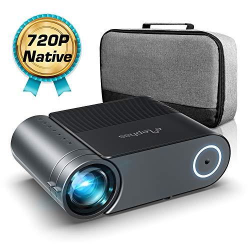 Proiettore,Elephas Videoproiettore Full HD 4500 Lumen da 50000 ore, Proiettore Home Theatrer 200...