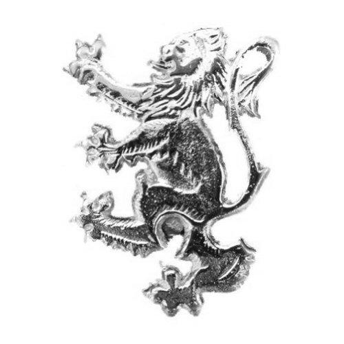 Tartanista - Dekorative Kiltnadel - mit einem traditionellen schottischen oder irischen Design/Emblem - Aufsteigender Löwe - verchromt