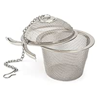 Stainless Steel Green Tea Infuser Cooking Ball Herb Infuser with Chain Big Diameter 4-6 cm