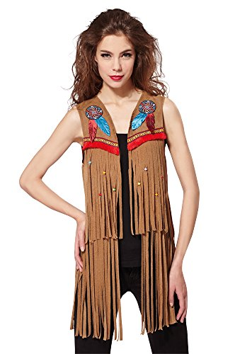 Bristol Novelty af030/indio Hippy chaleco señoras, Reino Unido 10–14