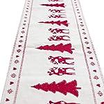Natale Runner Tovaglia Natalizia Albero di Natale Pupazzo di Neve Alce per Decorare Casa Cena da Tavola Cucina Stile Vintage Natale Decorazioni,35 X180 CM