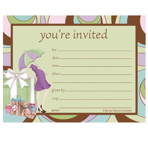 'Parenthood' Postcard-style Baby Shower Invitations 8-pack