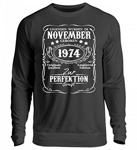Preisvergleich Produktbild Hochwertiger Unisex Pullover - Legenden November Geburtstag 1974 Geschenk