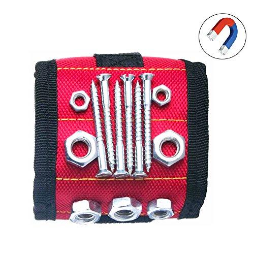 LMYTech,Magnetische Armband Plus,10 Starke Magnete,Langlebige Mehrzweck-Magnetische Armband Werkzeug Gürtel Mit,Für Schrauben,Bohrer,Schere,kleine Werkzeuge,Beste Tool Für Diy-Red
