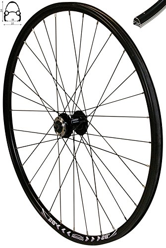 Redondo 28 Zoll Vorderrad Laufrad Fahrrad V-Profil Felge Schwarz 6 Loch Disc -