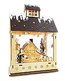 LED Lichterhaus mit Timer Holz Haus Weihnachten Winterkinder Haus im Haus Weihnachtshaus