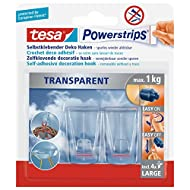 tesa Powerstrips® Spar-Set: 10x 58813-00-00 transparent Deco Haken Large