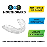 Mouth Guard, Love Nest Teeth Guard - Stops Bruxism,Tmj & Eliminates Teeth Clenching Pack of 4 Dental Guard in 2 Sizes Contains 2 Storage Boxes Bild 1