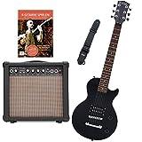 Rocktile L-50B Junior escala 3/4 guitarra eléctrica set con amplificador, correa y cable