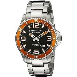 Stuhrling Original Regatta Champion - Reloj con pulsera de acero inoxidable para hombre