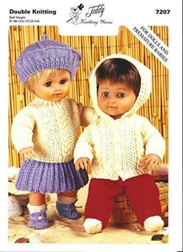 Teddy Strickmusteru2013ouble Knit Puppen Outfits. Diese leicht zu folgen, Muster Will Allow You To Knit die Jungen Jacke, Hose, und Socken sowie die Mädchen Pullover, Rock, Barett, Schuhe und Socken.