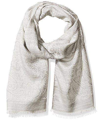 c63f1e6d9b993 Hickey Freeman Men s Italian Linen Silk Repeat Paisley Scarf