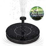 Fontaine solaire flottante,HWeggo Pompe à eau solaire Arrosage Extérieur Pompe Flottante pour Jardin Patio Oiseaux Bassin Piscine et Etang (1.4W)