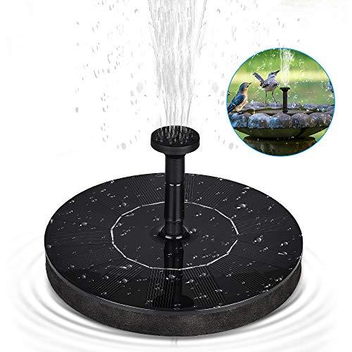 HWeggo Solar Springbrunnen, Teichpumpe Schwimmend mit 1.4W Monokristalline Solar Panel Springbrunnen Pumpe für Gartenteich Vogel-Bad, Fisch-Behälter, Kleiner Teich