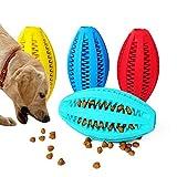 Altsommer Hunde Molar Stick,Hundespielzeug Ball Natur-Gummi, Hunde Zahnbürste mit Zahnpflege,Haustier Molar-Stock Biss Widerstand Lebensmittel-Leckage-Spielzeug,11 cm Durchmesser (Hellblau)