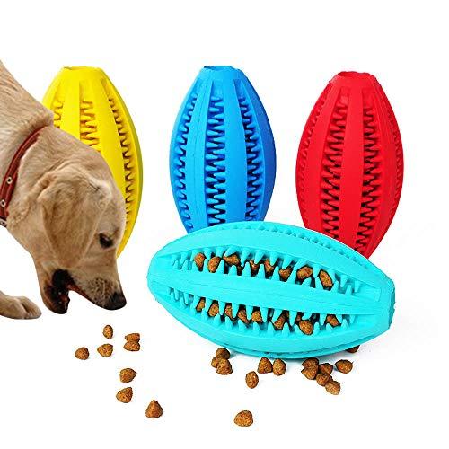 emmi pet Altsommer Hunde Molar Stick,Hundespielzeug Ball Natur-Gummi, Hunde Zahnbürste mit Zahnpflege,Haustier Molar-Stock Biss Widerstand Lebensmittel-Leckage-Spielzeug,11 cm Durchmesser (Rot)