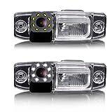 Dynavsal 8 LED Nacht Visionen Auto Rückfahrkamera 170 ° Weitwinkel HD Farbe Wasserdichte Rückfahrkamera für Hyundai Tucson Accent Elantra Terracan Veracruz Sonata/ Jeep Chrysler 300/300C/ SRT8 /Magnum / Sebring (Model 8160 size 99*28mm/ with socket)