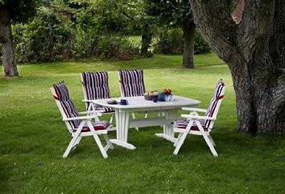 Harbo Holz Gartenmöbelgruppe 5-teilig weiß / Qualität Made in Europe / UVP 1145,00 Euro