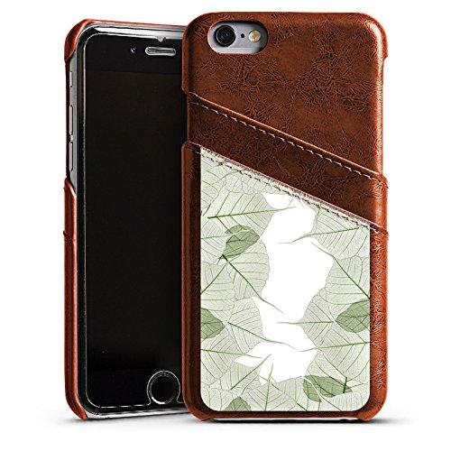Apple iPhone 6 Housse Étui Silicone Coque Protection Feuilles Feuillage Plante Étui en cuir marron