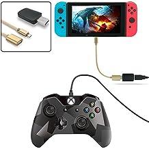 fyoung Controller Konverter für Nintendo Switch, Unterstützung für PS3/PS4/Xbox One/Xbox 360Controller (Unterstützung TV-Modus und-Modus), mit der U89OTG Kabel