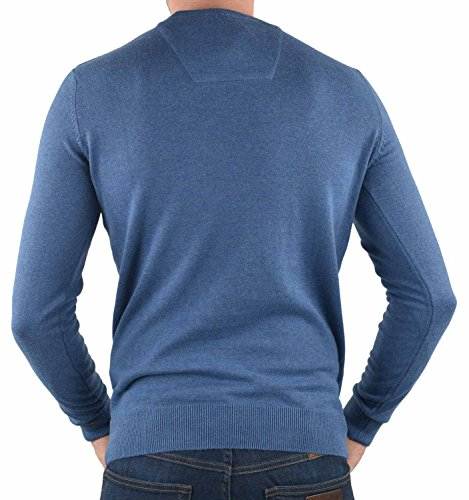 TOM TAILOR Herren Pullover Basic Crew-Neck Sweater Blau