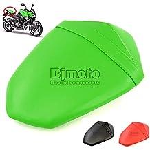 BJ Global - Cojín para colín de motocicleta, almohadilla para asiento de pasajero, color verde, negro o rojo, de piel, para Kawasaki Z800de 2013-2014