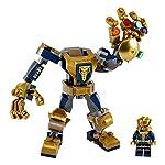 LEGO-Super-Heroes-Mech-Thanos-Marvel-Avengers-con-la-Minifigure-di-Thanos-il-Mech-di-Thanos-Costruibile-e-6-Gemme-dellInfinito-Set-di-Costruzioni-per-Bambini-6-Anni-76141