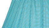 LILLESTOFF Unisex Stoff Türkis Weiß Jersey Streifen