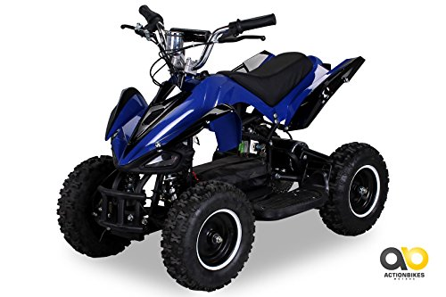 Mini Elektro Kinder Racer 800 Watt ATV Pocket Quad (blau)