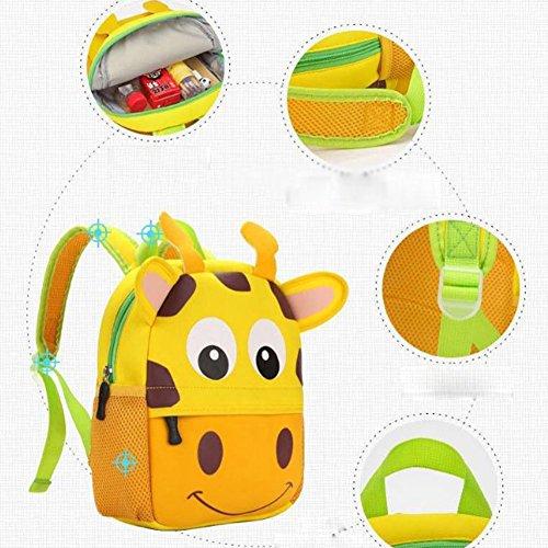 YAAGLE kinderrücksack Mädchen Jungen Kindergartenrucksack süß Kindergartentasche ZOO-Rucksack mit Tier Cartoon Kindergarten Schultasche für 1-3 Jahre Alte Baby Affe