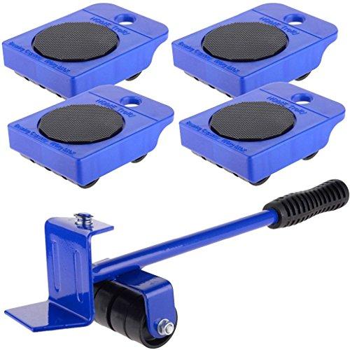 ädern, Handwerkzeug, Möbel-Transportheber, Rad, Schieberollen, Kit für Zuhause, Stevlogs 105.8x79.8mm blau ()