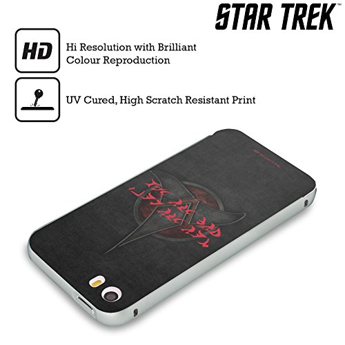 Ufficiale Star Trek Honor Is More Important Than Life Klingon Citazioni Argento Cover Contorno con Bumper in Alluminio per Apple iPhone 6 Plus / 6s Plus Honor Is More Important Than Life