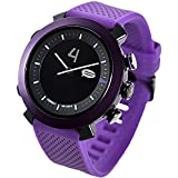COGITO Classic Smart Bluetooth Connected Watch for Smartphones - Retail Packaging - Deep Purple