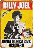 Billy Joel in Santa Monica Cartello In Metallo Con Scritta Targa Da Parete Retro Da Appendere Foglio Per Bar Box Auto Gas Stazione Casa Club