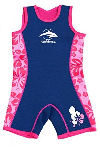 Warma 2-RB-828 Neopren Swimsuit, Neopren-Anzug für Kinder, rosa Blumen, Größe 2-3 Jahre