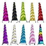 BONAMART Licorne Corne Bandeau Cheveux pour Party Cosplay Costume Fille 10 Pack Déguisement Enfant Femme Tout Pour La Fete