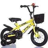 Kinder-Bike, Baby-Bike, männliche und weibliche Baby-Bike ( Farbe : Gelb , größe : 121cm )