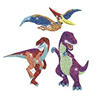 30 x Dazzling Dinosaur Sparkle Stickers for Kids