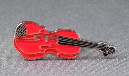 Metall Emaille Brosche Orchester Musik Violine (rot)