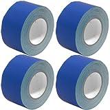 Seismic Audio–seismictape-blue603–4unidades–4Pack de 3, Azul–de la cinta americana–60yardas por rollo