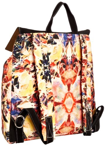 Front Row Society Rucksack, Borsa zaino donna Multicolore (Frosted Flower)