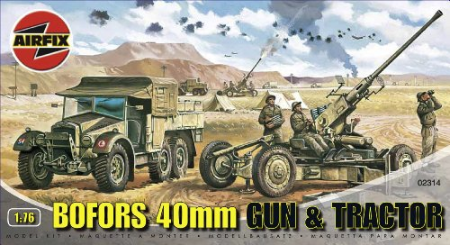 Airfix A02314 Bofors 40mm Gun & Tractor 1:76 Scale Series 2 Plastic Model Kit