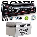 Mercedes Vaneo W414 - Sony CDX-G1200U - CD/MP3/USB Autoradio - Einbauset